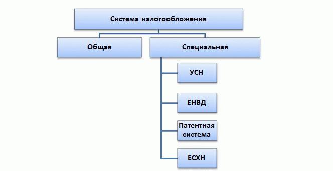 Виды систем налогообложения РФ