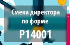 Смена директора по форме 14001